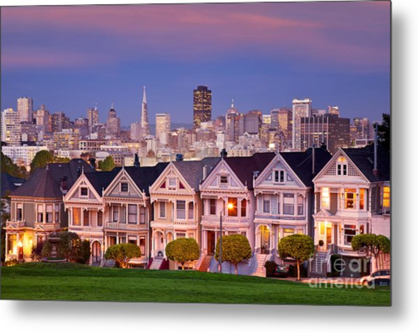 Metal Print featuring the photograph Painted Ladies by Brian Jannsen