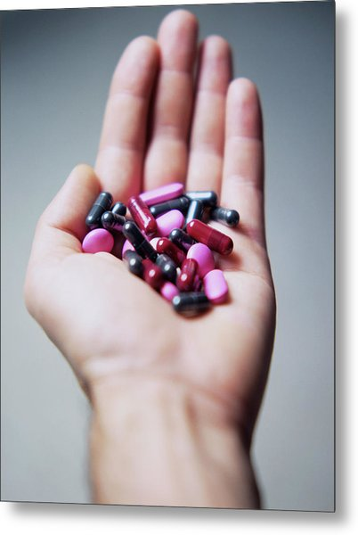 Pills Metal Print by Cristina Pedrazzini/science Photo Library
