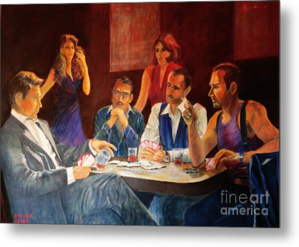 Pokertable Metal Print