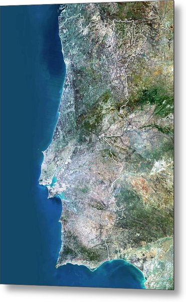 Portugal Metal Print by Planetobserver/science Photo Library