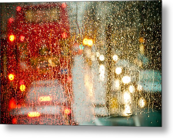 Rainy Day In London Metal Print