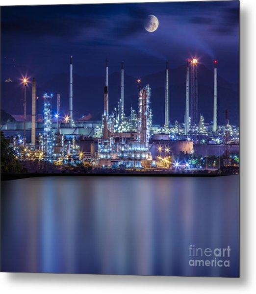 Refinery Industrial Plant  Metal Print