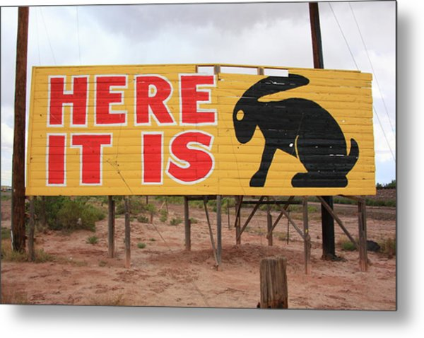 Route 66 - Jack Rabbit Trading Post Metal Print