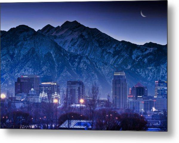 Salt Lake City Utah Skyline Metal Print