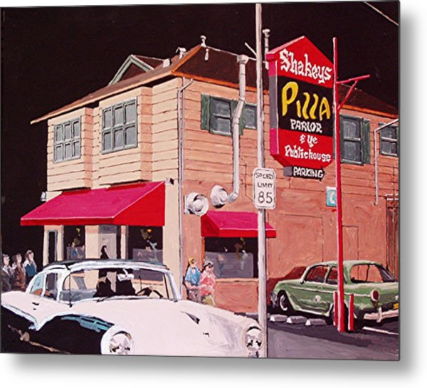 Shakey's Pizza Metal Print by Paul Guyer