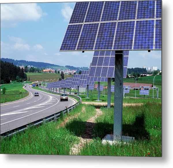 Solar Panels Metal Print by Martin Bond/science Photo Library