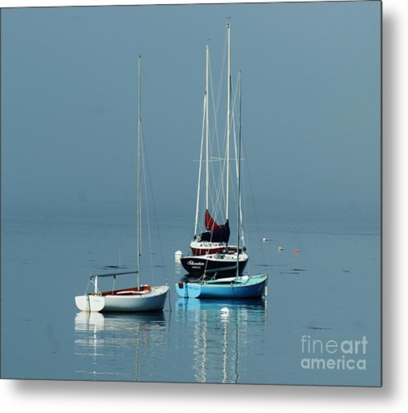 Sorrento Sailboats  Metal Print
