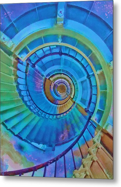 Stairway To Lighthouse Heaven Metal Print