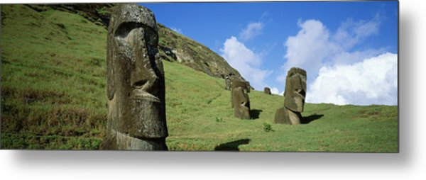 Stone Heads, Easter Islands, Chile Metal Print