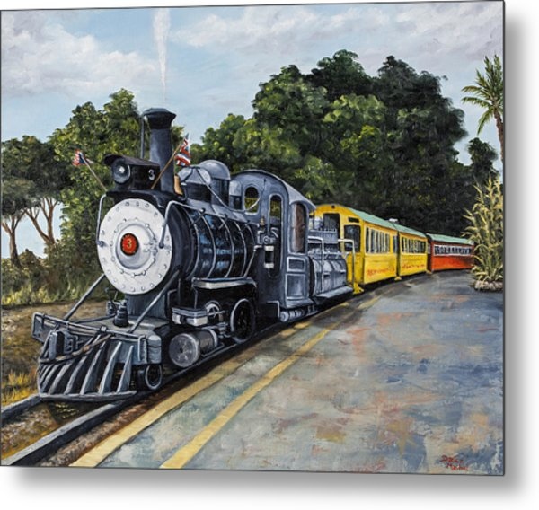 Sugar Cane Train Metal Print