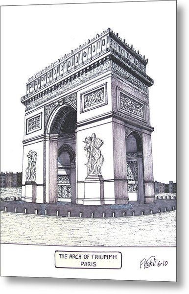 The Arch Of Triumph Metal Print