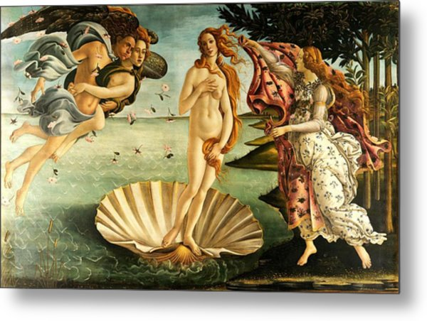 Metal Print featuring the painting The Birth Of Venus by Sandro Botticelli