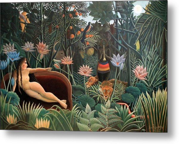 Metal Print featuring the painting The Dream by Henri Rousseau