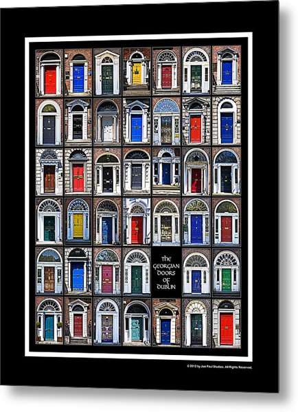 The Georgian Doors Of Dublin Metal Print