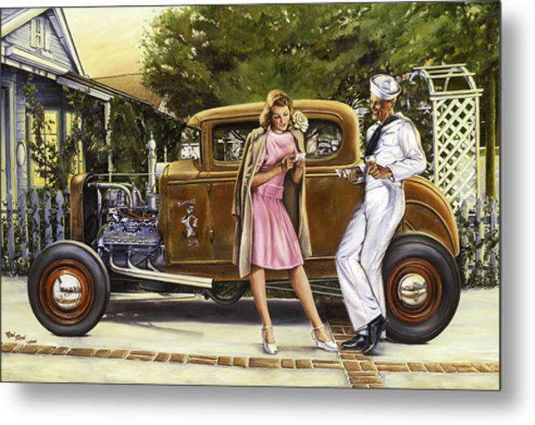 The Sailor's Girl Metal Print