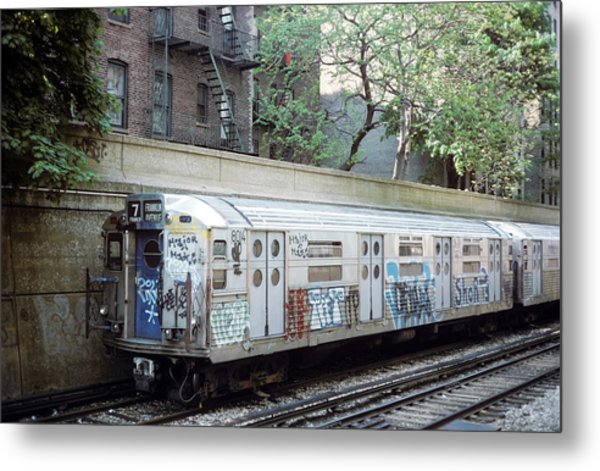 The Subway In The 70s Metal Print