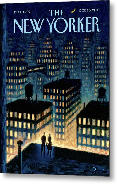 New Yorker October 25th, 2010 Metal Print