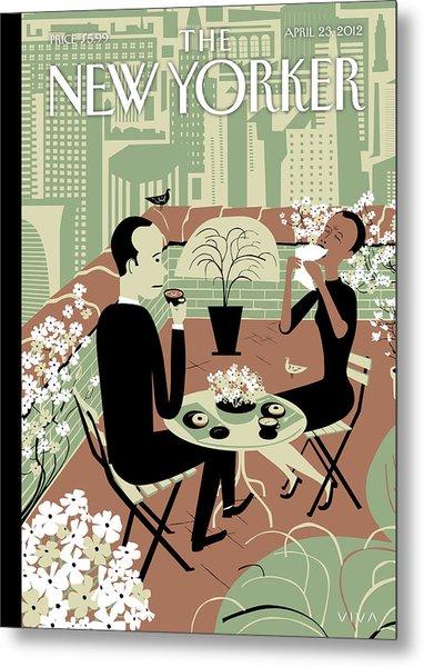 New Yorker April 23rd, 2012 Metal Print