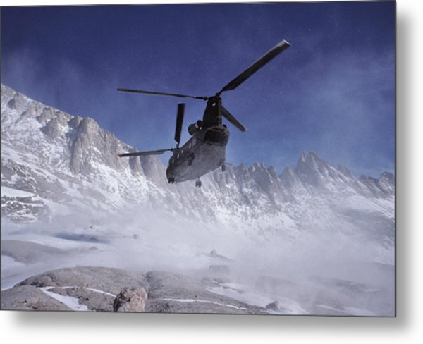 Usa, California, Chinook Search Metal Print by Gerry Reynolds