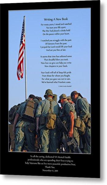 Veterans Remember Metal Print