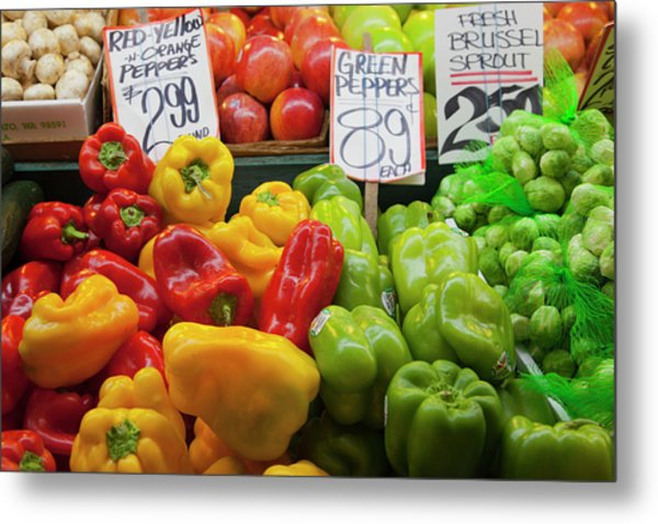 Wa, Seattle, Pike Place Market Metal Print by Jamie and Judy Wild