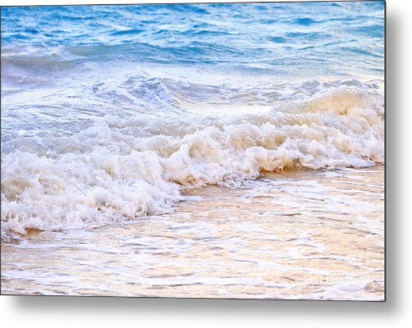 Waves Breaking On Tropical Shore Metal Print