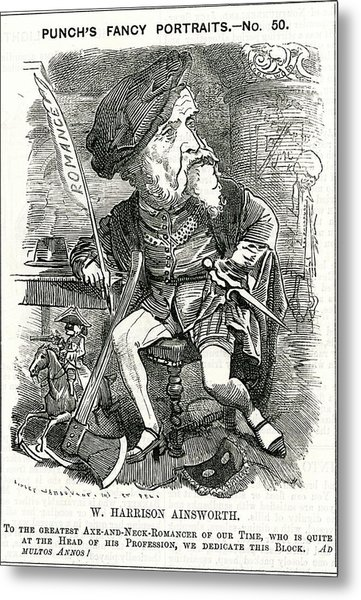 William Harrison Ainsworth  English Metal Print by Mary Evans Picture Library