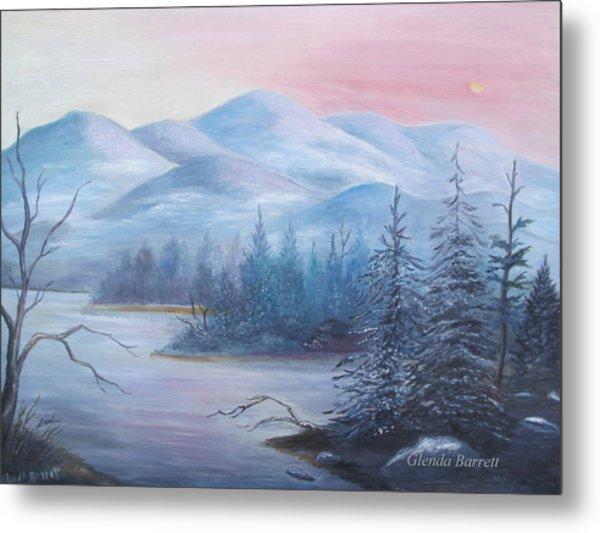 Winter In The Mountains Metal Print by Glenda Barrett