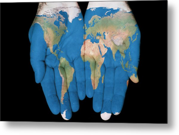 World In Our Hands Metal Print