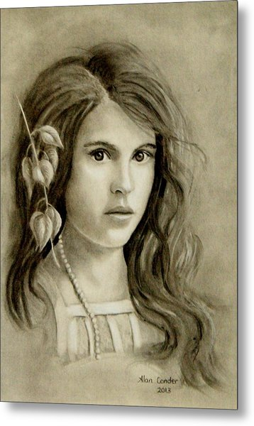Young Girl Metal Print