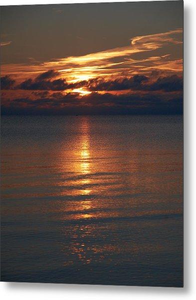 Yyteri Fall Sunset Metal Print