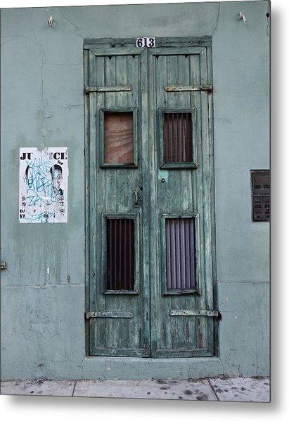 New Orleans Door Metal Print