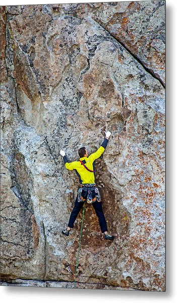 Rock Climber Metal Print by Elijah Weber