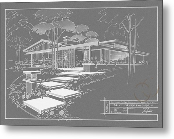 301 Cypress Drive - Charcoal Metal Print