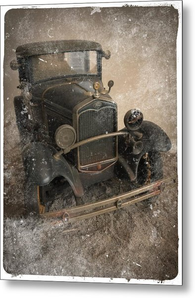 '31 Ford Diecast Truck Model Metal Print