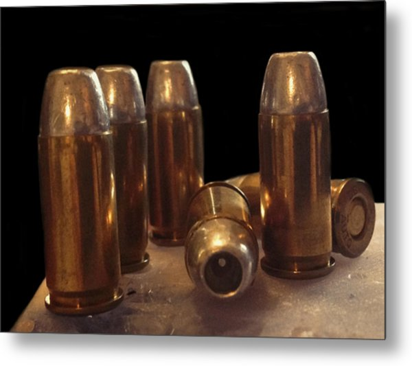 Bullet Art 32 Caliber Bullets 3514 Metal Print