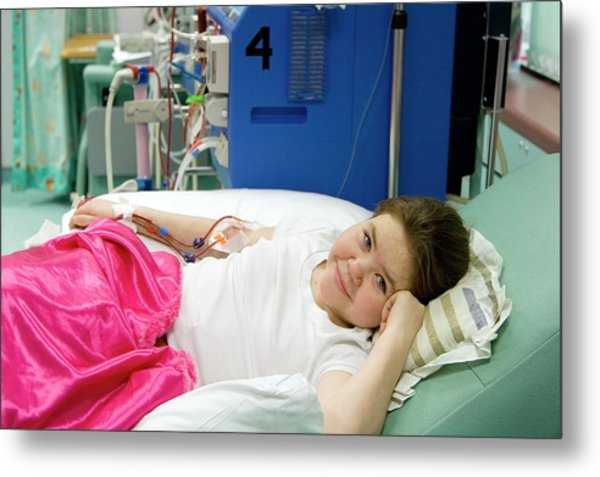 Paediatric Dialysis Unit Metal Print by Life In View/science Photo Library