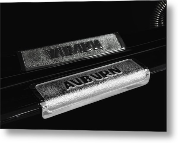 1935 Auburn Supercharged Step Plate Reflection Metal Print