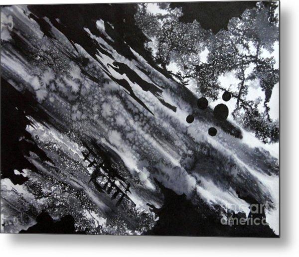 Boat Andtree Metal Print