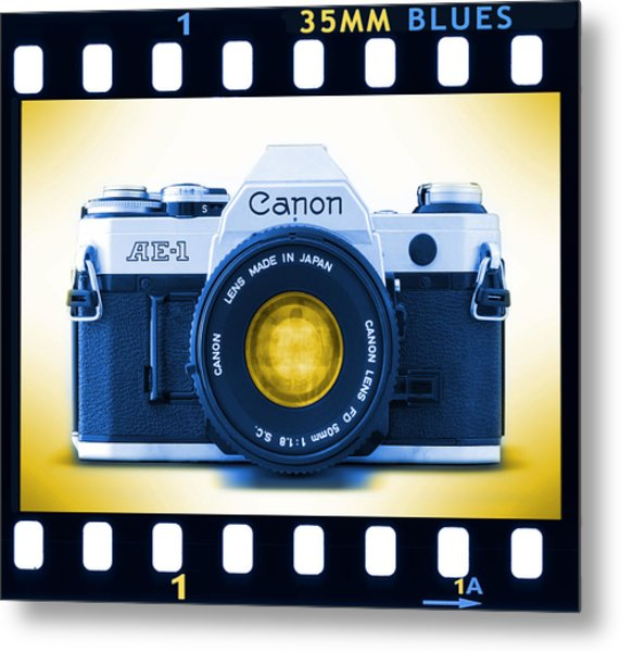 35mm Blues Canon Ae-1 Metal Print