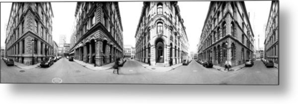 360 Degree View Of A City, Montreal Metal Print