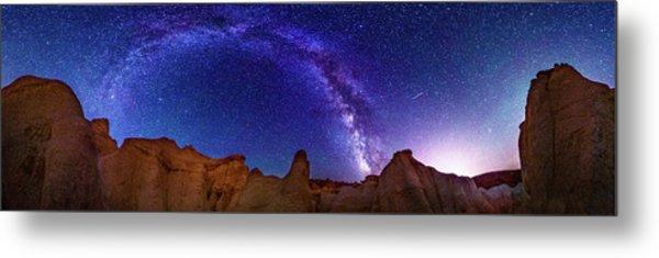 360 Milky Way Pano At Paint Mines Metal Print