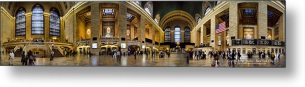 360 Panorama Of Grand Central Terminal Metal Print