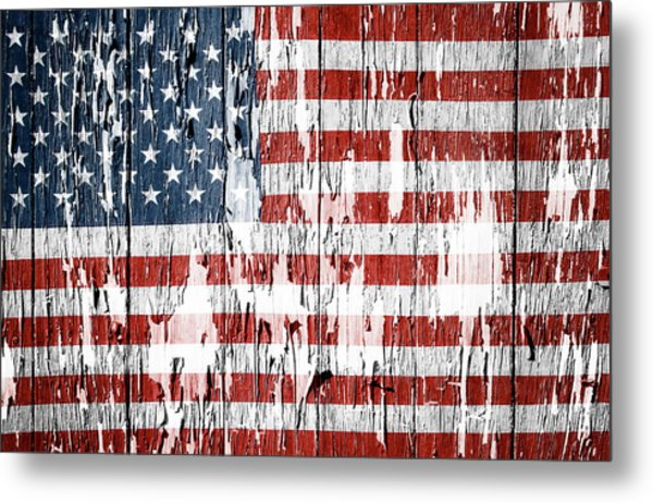 American Flag 49 Metal Print