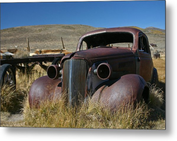 '37 Chevy In Bodie Metal Print
