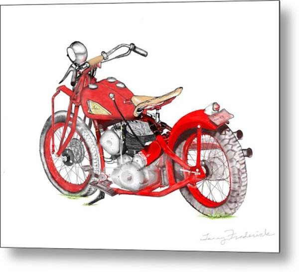 37 Chief Bobber Metal Print