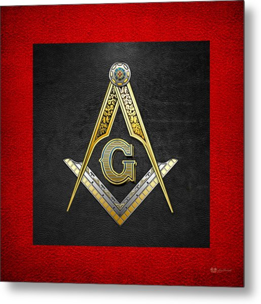 3rd Degree Mason - Master Mason Masonic Jewel  Metal Print