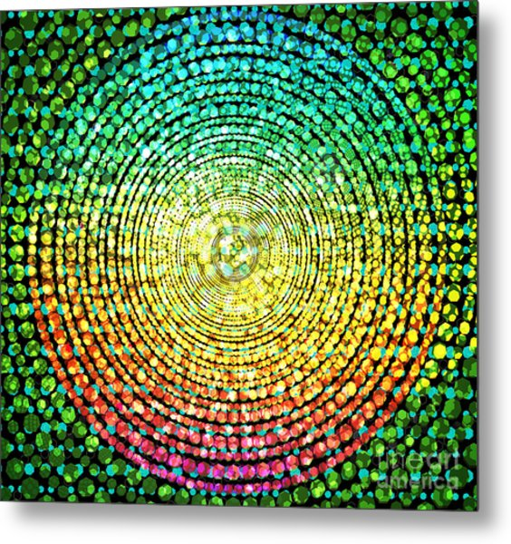 Abstract Dot Metal Print