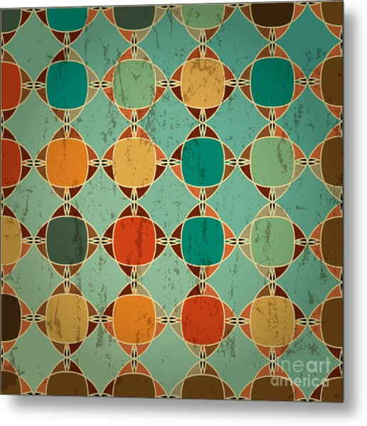 Abstract Geometric Pattern Background Metal Print by Kirsten Hinte