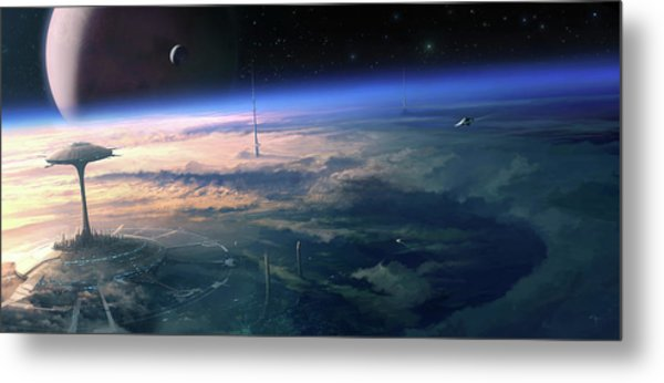 Alien Civilisation Metal Print by Gary Tonge / Science Photo Library